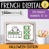 French Halloween Boom Cards Ten Frames I Numbers 1-10