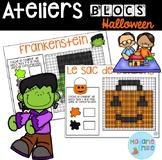 French Halloween Building blocs mats/ Atelier Blocs constr