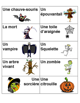 French Halloween Charades