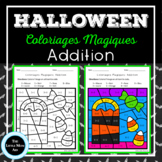 French Color by Code Addition | Coloriages Magiques Hallow