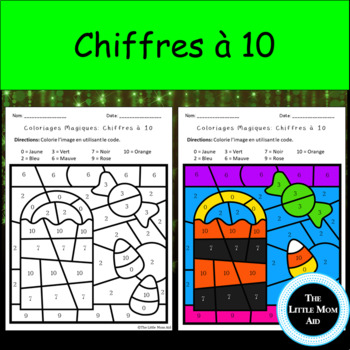 UPDATED French Color by Numbers to 10 | Coloriages Magiques d'Halloween 0 à 10