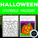 French Color by Numbers to 10 | Coloriages Magiques d'Halloween 0 à 10