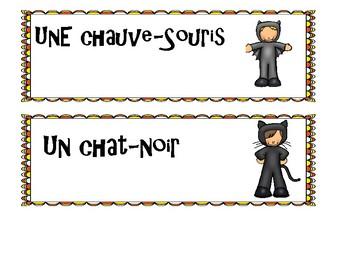French Halloween Costume speaking activity