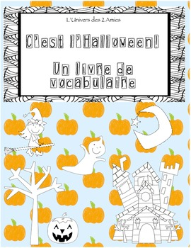 French Halloween Counting booklets