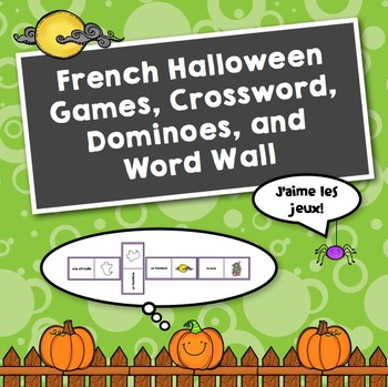 Simple French Halloween Games: Dominoes, Crossword and more...