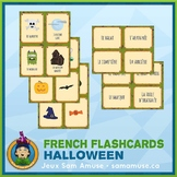 French Halloween Flash Cards • 3 styles included