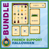 French Halloween • Flash Cards & Word Wall Posters Bundle