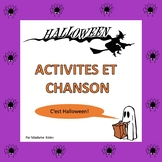 French Halloween Free Activities and Song (PreK to 1st)