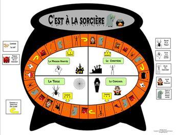 French Halloween Gameboard-C'est à la Sorcière