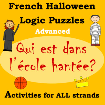 French Halloween Logic Puzzles and Activities