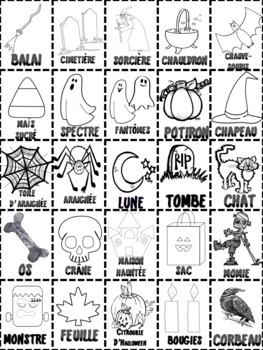 French Halloween Loto  Game