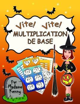 French Halloween Math Multiplication Activity