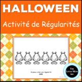 French Halloween Patterns Activity: Les Régularités d'Halloween
