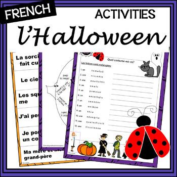 French Halloween – More Halloween activities