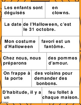 French Halloween – More Halloween activities
