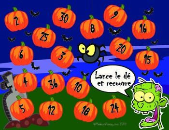 French Halloween Multiplication Worksheets