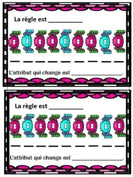 French Halloween Math Patterning Activity- Les Suites en francais