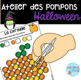 French Halloween Pompons center/ Atelier des pompons (Halloween)