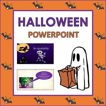 french halloween powerpoint presentation prek to 1st tpt