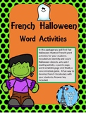 French Halloween Puzzle Vocabulary Activities Ontario Core French