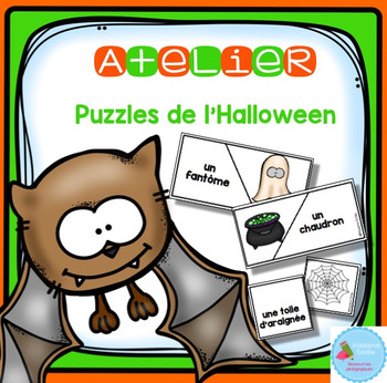 French Halloween Puzzles/ Casse-tête {Mots d'Halloween}