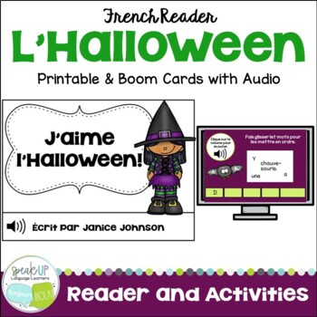 French Halloween Reader & Cut/Paste ~ J'aime l'Halloween ! {J'aime Halloween}