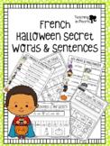 French Halloween - Secret Words and Sentences - Mots Secre