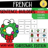 French Christmas Sentence Builders I French sentence structure
