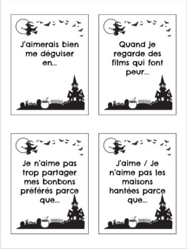 French Halloween Sentence Stems