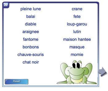 French Halloween SmartBoard Games and Activities