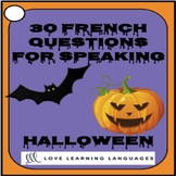 French Halloween Speaking Activity - 30 French Speaking Prompts