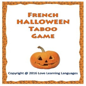 French Halloween Taboo Game - Halloween Français