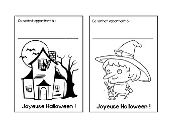 French Halloween Treat Bag Tags