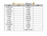 French Halloween Vocab list