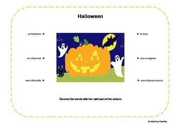 French Halloween Vocabulary FREE