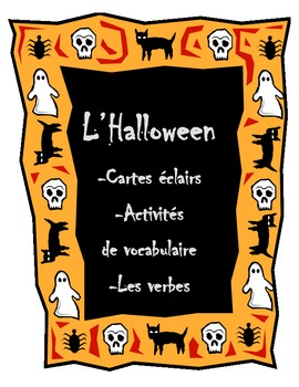 French Halloween Vocabulary Activities (Flash Cards, Vocab