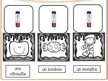 French Halloween Vocabulary Flip Flash Cards Activity- Vocabulaire- l'Halloween