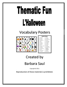 French Halloween Vocabulary Teaching Posters