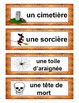 French Halloween Vocabulary Word Wall