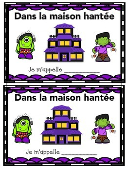 French Halloween Vocabulary Writing Activity- Maison hante