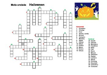 French Halloween Vocabulary games