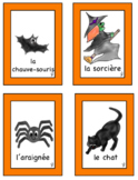 French Halloween WORD WALL & FLASHCARDS