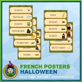 French Halloween Word Wall • Horizontal 1/4 Page Posters