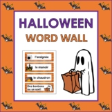 French Halloween Word Wall (Pre-K to 1st)