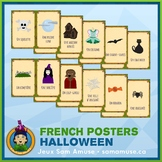 French Halloween Word Wall • Vertical 1/2 Page Posters