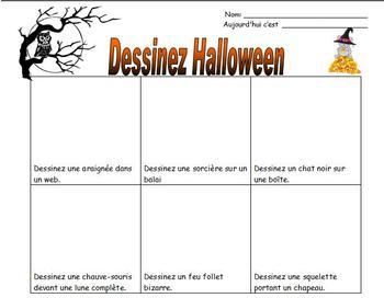 French Halloween Worksheets and Activities