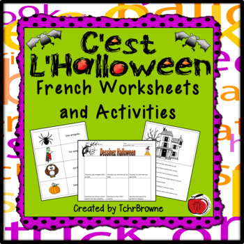 french halloween worksheets and activities by tchrbrowne teachers pay teachers. Black Bedroom Furniture Sets. Home Design Ideas