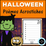 French Halloween Writing Acrostic Poem | Poèmes Acrostiche