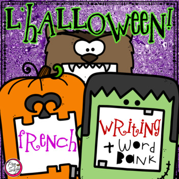 French Halloween Writing & Word Bank