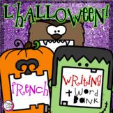 French Halloween Writing & Word Bank